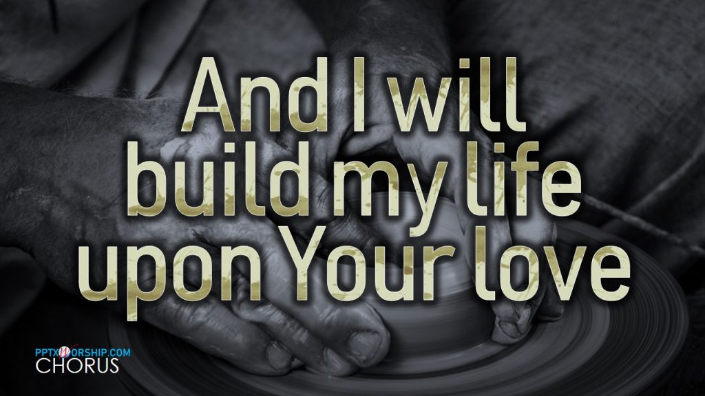 Build my Life Chords PPTXWorship.com PowerPoint Template presentation PDF Free download Lyrics Worship songs