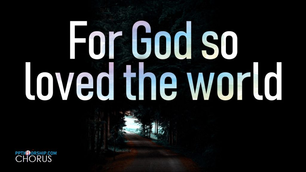 God so Loved Hillsong Worship Lyrics PPTX Worship songs Free download PowerPoint Template presentation PPTXWorship.com