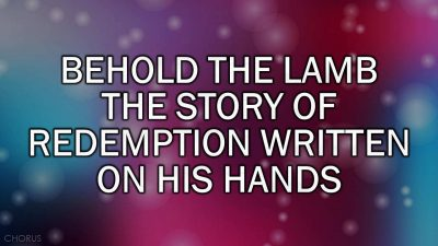 Behold the Lamb (Kristian Stanfill) v1