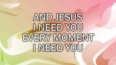 Jesus I Need You (Hillsong) v1